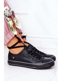 Women's Leather Sneakers BIG STAR II274002 Black - II274002 BLACK