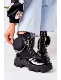 Madingi aukštos kokybės batai su originalia kišenėle - QT32 BLACK