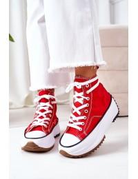 Raudonos spalvos stilingi batai su platforma Electric Love - G-12 RED