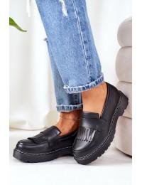 Madingi juodi BIG STAR batai masyviu padu - II274100 BLACK