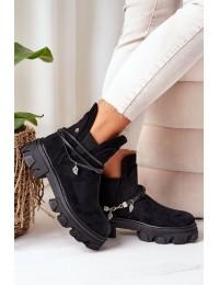 Stilingi juodos spalvos originalaus dizaino batai - NC1199 BLACK