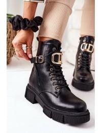 Stilingi juodi aukštos kokybės batai Black Maybelle - QT25 BLK