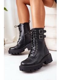 Stilingi juodi aukštos kokybės batai - II274113 BLACK