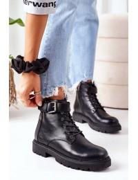 Stilingi juodi aukštos kokybės batai - EE2R4086C BLACK