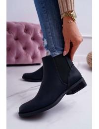 Klasikiniai minimalistinio dizaino juodi aulinukai - 18-75 BLK