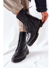 Stilingi juodi suvarstomi ilgaauliai  - 201-67 BLK