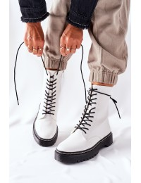 Stilingi balti suvarstomi ilgaauliai  - 201-67 WHITE