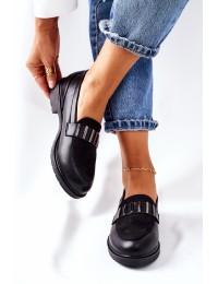 Stilingi juodi aukštos kokybės batai - 317 BLK