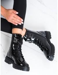Juodi aukštos kokybės stilingi auliniai batai - 34-55B