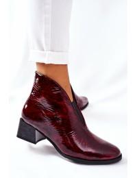 Natūralios išskirtinės odos stilingi batai - 04777-23/00-3 BORDO