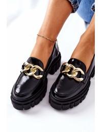 Natūralios odos Laura Messi aukštos kokybės stilingi batai - 2339 600 BLK