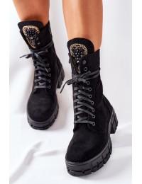 Išskirtinio dizaino aukštos kokybės batai Black Hadley - DA79 BLK