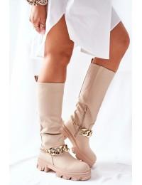 Stilingi aukštos kokybės ilgaauliai Beige Cecina - QT20 BEIGE