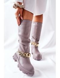 Stilingi aukštos kokybės ilgaauliai Grey Cecina - QT20 GREY