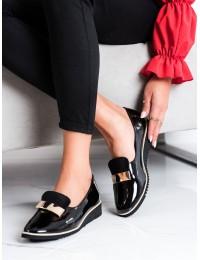 Elegantiški juodi stilingi bateliai - GD-FL645B