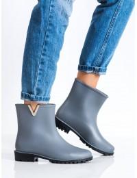 Pilki guminiai batai su papuošimu - HQ-206G