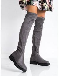 Pilki stilingi ilgi batai virš kelių - MR1821-3G