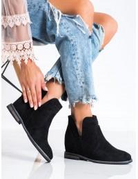 Juodi zomšiniai stilingi batai - 208-2B