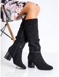 Elegantiški juodi klasikinio stiliaus ilgaauliai - SA186-4B