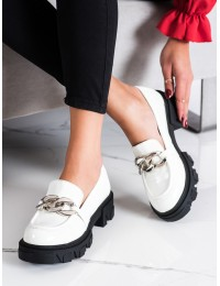 Masyvaus dizaino balti batai su platforma - 21-50004W