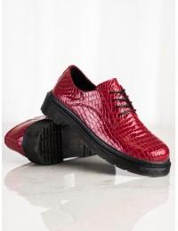 Raudoni natūralios odos stilingi batai - GLN449/21R