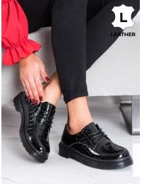 Juodi natūralios odos stilingi batai - GLN449/21B