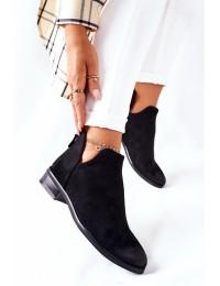 Stilingi zomšiniai pašiltinti batai Black Joaliene - 22-10617 BLACK