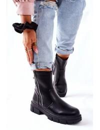 Juodos spalvos stilingi batai su pašiltinimu - 223-19b BLK