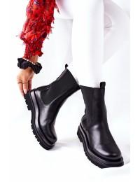 Sodrios juodos spalvos batai su platforma - 7223 BLK