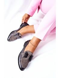 Natūralios odos itin aukštos kokybės elegantiški bateliai - 04099-03/00-1 POPIEL