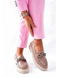 Natūralios odos Laura Messi stilingi aukštos kokybės batai - 2383 136 D.BEIGE