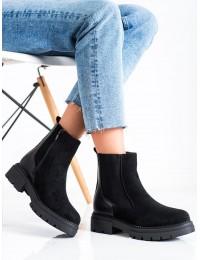 Šilti juodi aukštos kokybės batai - 21BT35-4205B