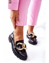 Juodi natūralios odos aukštos kokybės Nicole batai - 2665 035 BLK