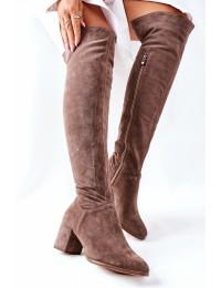 Stilingi natūralios odos aukštos kokybės Nicole ilgaauliai - 2582 032 BROWN