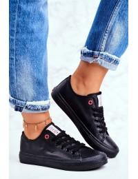Juodi Cross Jeans suvarstomi bateliai - DD2R4029 BLK