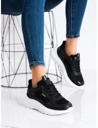 Madingi juodi sportinio dizaino batai - 1082B