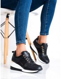 Juodi suvarstomi batai su platforma - Y9522B/GO
