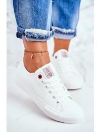 Balti Cross Jeans suvarstomi bateliai - DD2R4030 WHITE