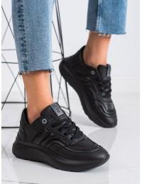 Juodos spalvos sportinio stiliaus aukštos kokybės patogūs batai - II274332906B