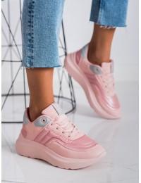 Rožinės spalvos sportinio stiliaus aukštos kokybės patogūs batai - II274333600P