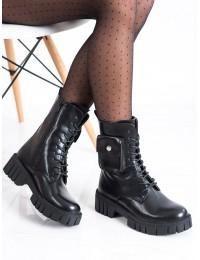 Juodos spalvos madingi išskirtinio dizaino aulinukai\n - UK50B