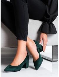 Elegantiški smaragdinės žalios spalvos bateliai - AB550-1GR