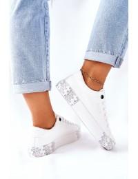 Stilingi balti BIG STAR batai su platforma - II274181 WHITE