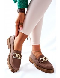 Natūralios odos aukštos kokybės madingi batai Brown Sthonto - 2686/055 BROWN