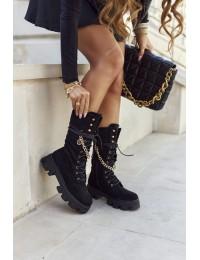 Madingi juodos spalvos patogūs stilingi batai - NC1238 BLK