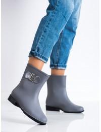 Pilkos spalvos matiniai guminiai batai - HMY-7G