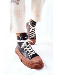 Šilti aukštos kokybės patogūs GOE batai - II2N4033 BLK/BR