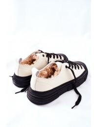 Šilti aukštos kokybės patogūs GOE batai - II2N4036 WHITE/BLK