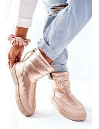 Šilti patogūs šampano spalvos Big Star žieminiai batai - II274121 BEIGE