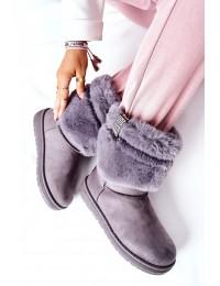 Šilti patogūs pilki Big Star žieminiai batai - II274128 GREY